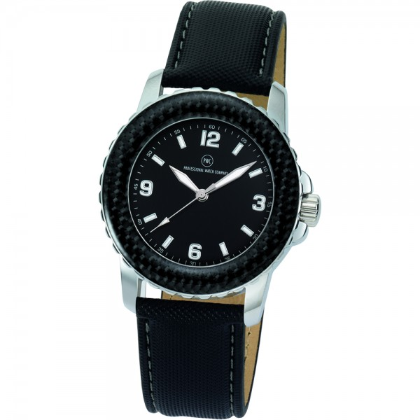 "Armbanduhr ""Spectra Carbon schwarz"