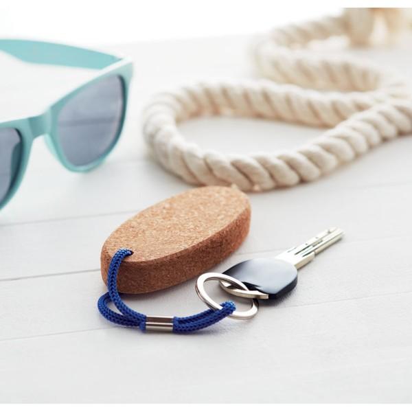 Schwimmender Schlüsselanhänger aus Kork