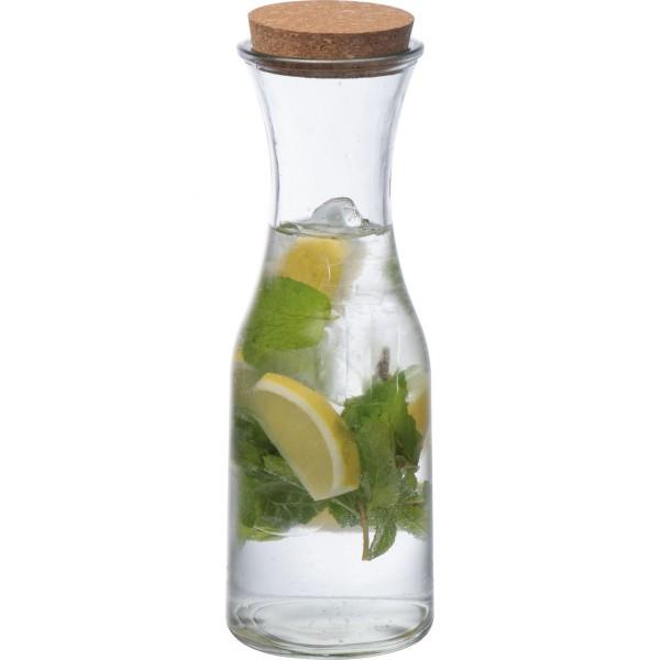 Glasflasche mit Korkdeckel
