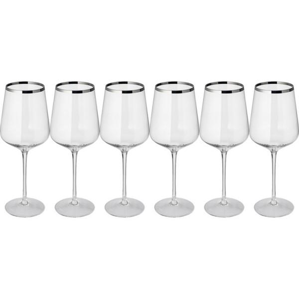 Set bestehend aus 6 Kristall Rotweingläser