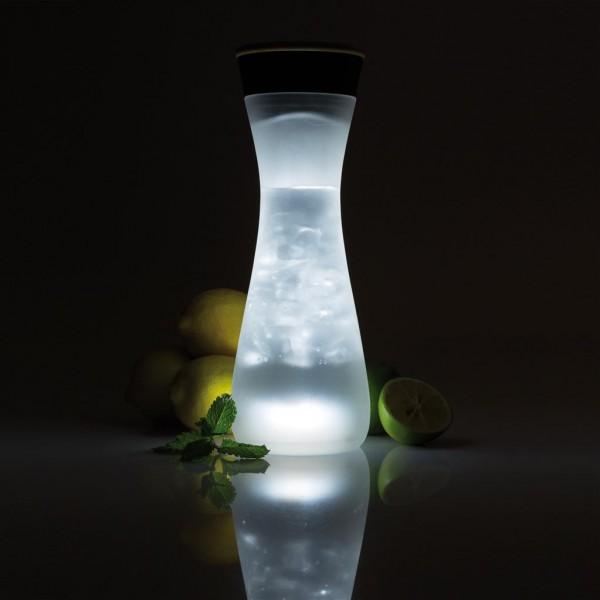 Lumm Glaskaraffe mit Licht