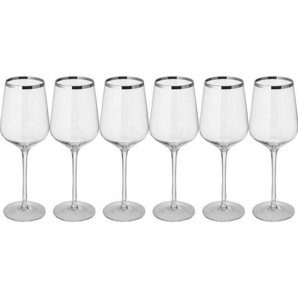 Set bestehend aus 6 Kristall Weißweingläser