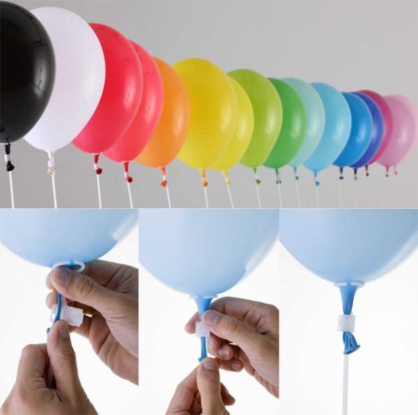 Luftballons mit Zubehör