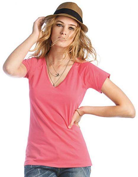 Damen T-Shirt V Classic