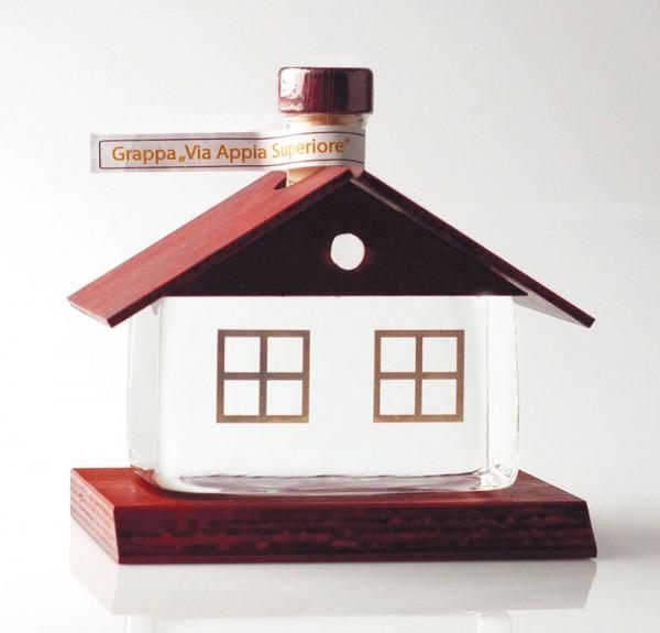 Glashaus mit Holzdach